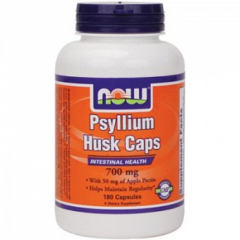 NOW Foods Psyllium Husk Подорожник с пектином капсулы 180 шт.